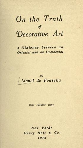 Download On the truth of decorative art