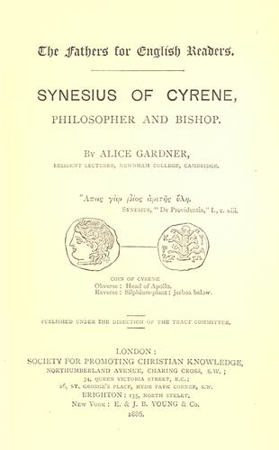 Download Synesius of Cyrene