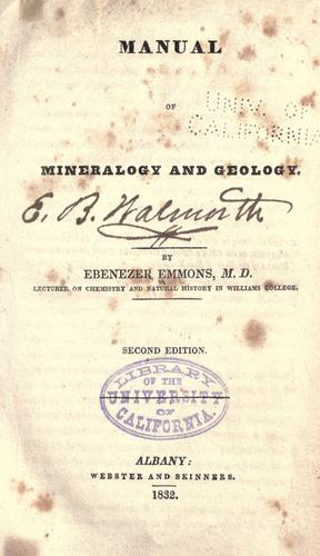 Manual of mineralogy and geology.