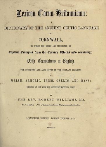 Download Lexicon cornu-britannicum