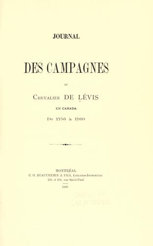Download Collection des manuscrits du maréchal de Lévis.