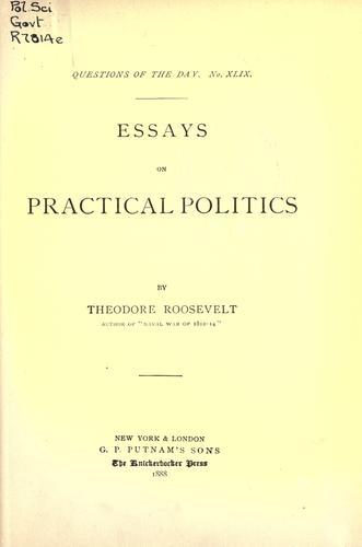 Download Essays on practical politics.