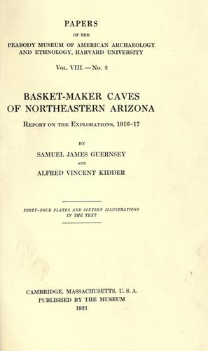 Download Basket-maker caves of northeastern Arizona