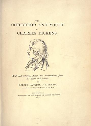 The childhood and youth of Charles Dickens.
