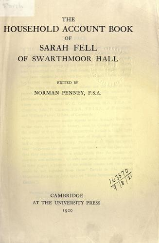 Household account book of Sarah Fell
