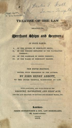 Download A treatise of the law relative to merchant ships and seamen
