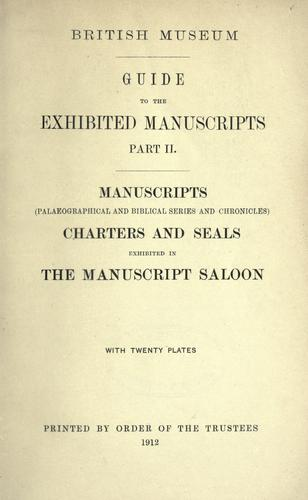 Download Guide to the exhibited manuscripts