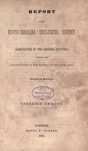Report of the North Carolina geological survey.