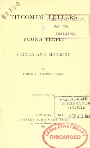 Titcomb's letters to young people ; single and married