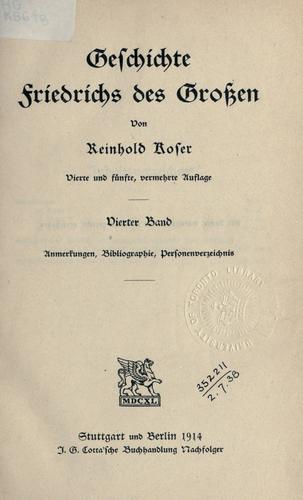 Download Geschichte Friedrichs des Grossen.
