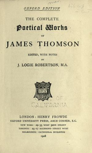 The complete poetical works of James Thomson