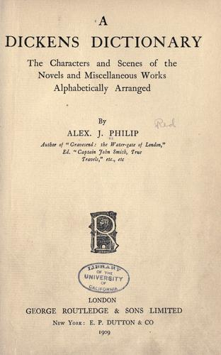 A Dickens dictionary