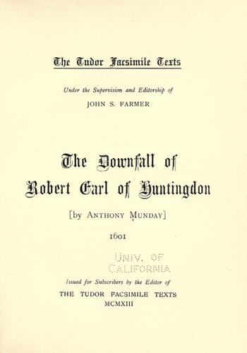 Downfall of Robert, earl of Huntingdon