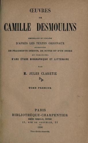 ℗Œuvres de Camille Desmoulins