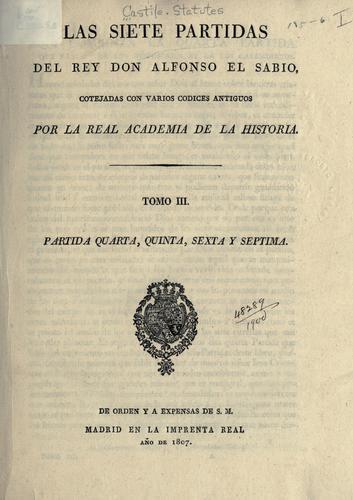 Download Las siete partidas del rey Don Alfonso el Sabio