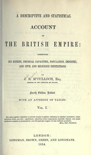 Download A descriptive and statistical account of the British Empire