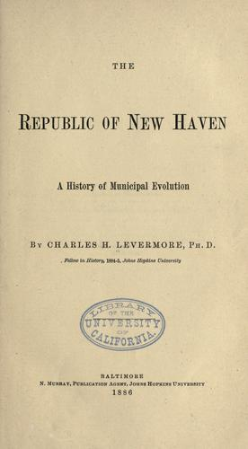 Download The republic of New Haven