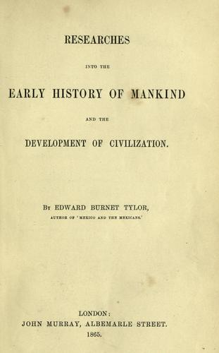 Download Researches into the early history of mankind and the development of civilization.