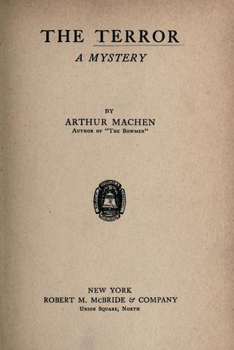 The terror by Arthur Machen