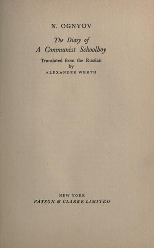 Download The  diary of a communist schoolboy