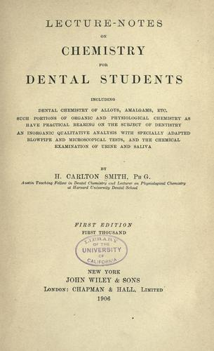 Download Lecture-notes on chemistry for dental students