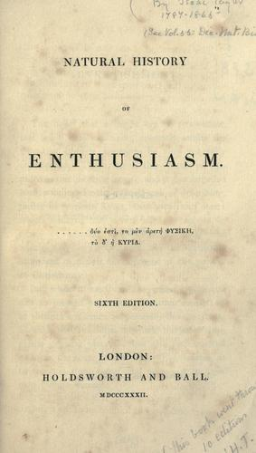 Natural history of enthusiasm