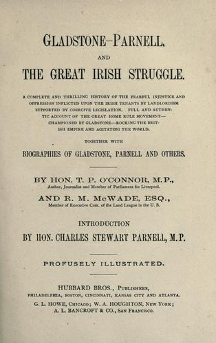 Download Gladstone-Parnell, and the great Irish struggle