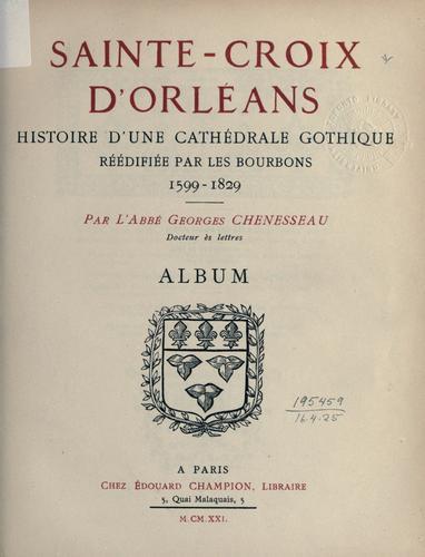 Download Sainte-Croix d'Orléans