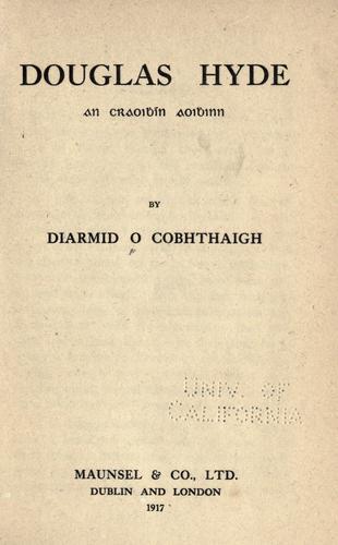 Download Douglas Hyde An Craoibhin Aoibhinn