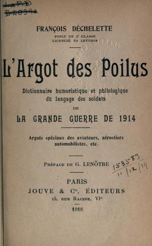 Download L' argot des poilus
