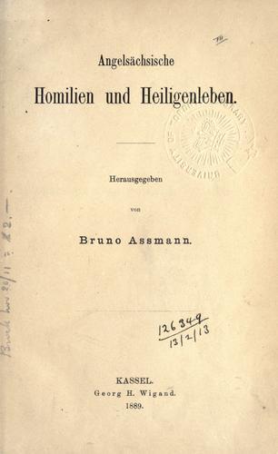 Download Angelsächsische Homilien und Heiligenleben.