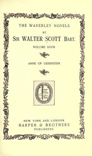Anne of Geierstein.
