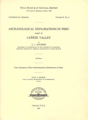 Download Archaeological explorations in Peru.