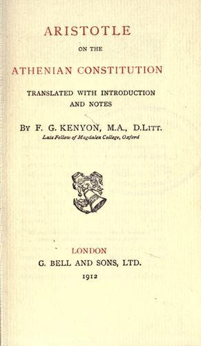 Aristotle on the Athenian constitution
