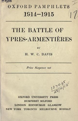 Download The Battle of Ypres-Armentières.