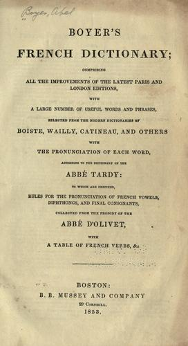 Download Boyer's French dictionary