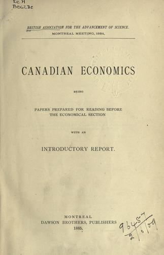 Download Canadian economics