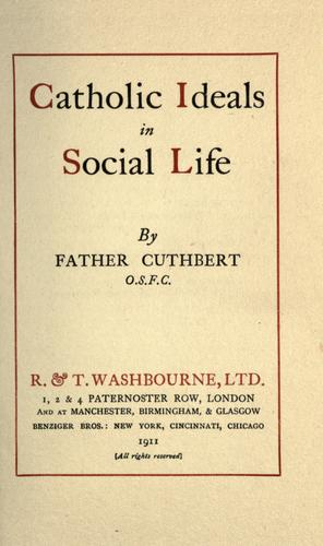 Download Catholic ideals in social life