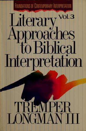 Literary approaches to biblical interpretation