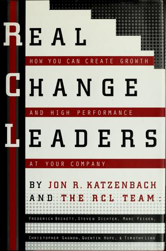 Download Real change leaders