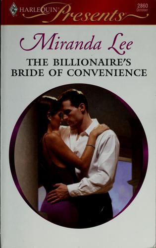The billionaire's bride of convenience by Miranda Lee