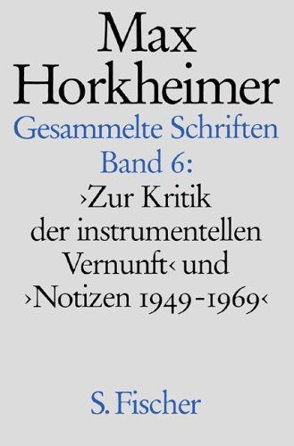 Gesammelte Schriften, Bd. 6