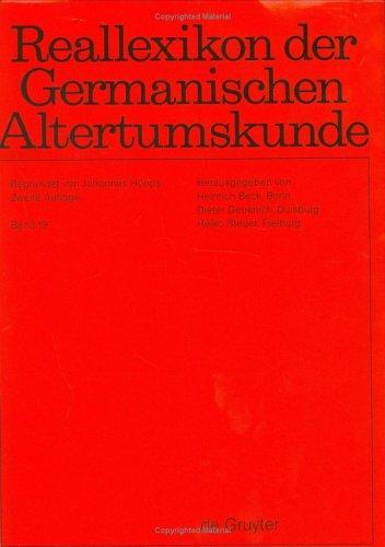 Download Reallexikon Der Germanischen Altertumskunde