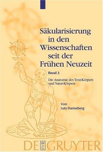 Download Sakularisierung in Den Wissenschaften Seit Der Fruhen Neuzeit