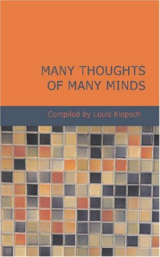Download Many Thoughts of Many Minds