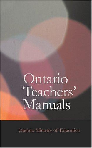 Ontario Teachers\' Manuals