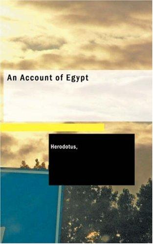 Download An Account of Egypt
