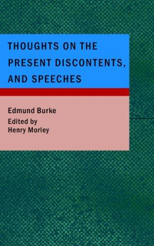 Download Thoughts on the Present Discontents; and Speeches