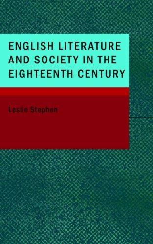 Download English Literature and Society in the Eighteenth Century