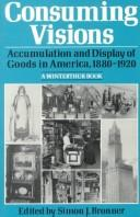 Consuming Visions: Accumulation and Display of Goods in America, 1880-1920 (Winterthur Conference//(Report)), Bronner, Simon J. (Editor)
